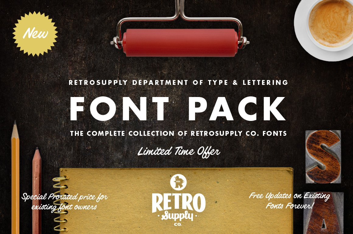 Download The Complete RetroSupply Font Pack | Stunning Display ...