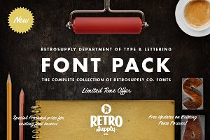 The Complete RetroSupply Font Pack