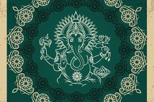 Indian god elephant Ganesha