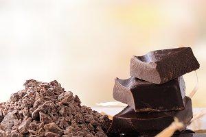 Chocolate broken stack vertical