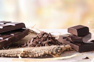 Chocolate broken stack horizontal
