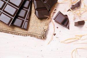 Broken tablet artisan chocolate top
