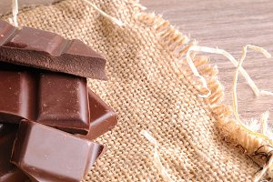 Heap of artisan portions chocolate