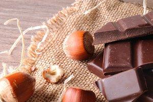 Artisan choco and hazelnuts elevated