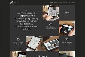 Harrison – One-Page Portfolio HTML5