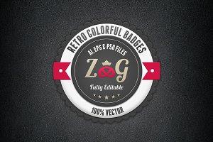 Retro Colorful Badges