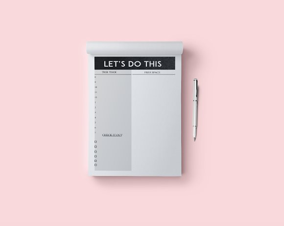 let s do this daily goals sheet stationery templates creative market