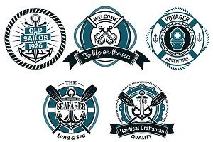 Seafarer, nautical and marine icons