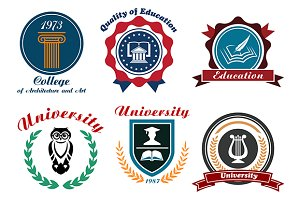 Vintage university and college logot