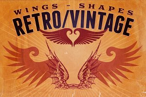 Retro/Vintage shapes - Wings