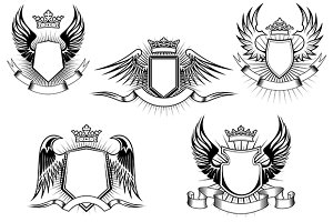 Royal coat of arms templates