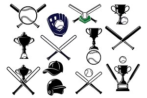 Baseball equipments set