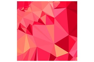 American Rose Red Abstract Low Polyg