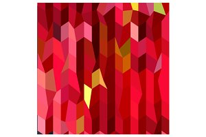 Cardinal Red Abstract Low Polygon Ba