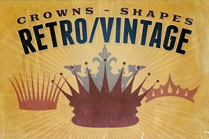 Retro/Vintage shapes - Crowns