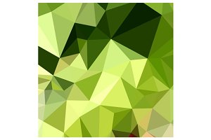 Electric Lime Green Abstract Low Pol