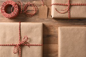 Eco Friendly Wrapped Presents