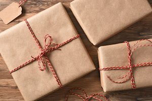 Plain Wrapped Christmas Presents