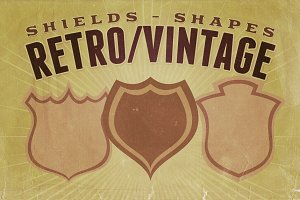 Retro/Vintage shapes - Shields