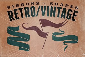 Retro/Vintage shapes - Ribbons