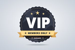 Round badge for VIP club members