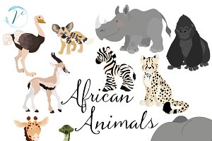 African Animals Vectors & Clipart