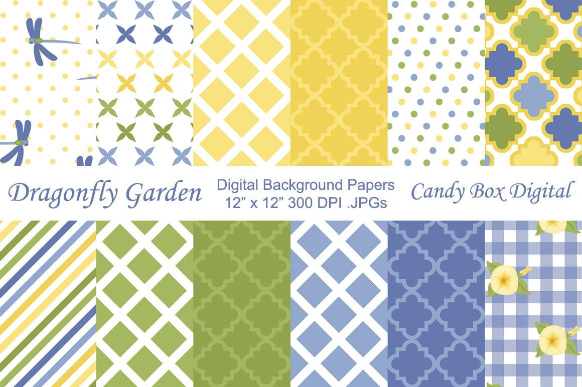 Garden Background Papers Patterns Creative Market