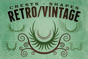 Retro/Vintage shapes - Crests