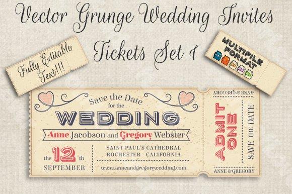 Email Wedding Invitations Free Templates: Vector Editable Wedding Invites