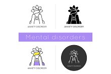 Anxiety disorder icon