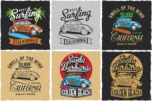 California Surfing T-shirts
