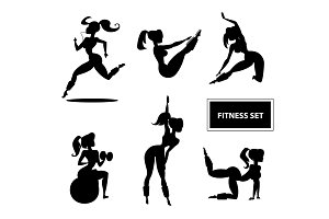 Woman fitness set