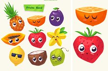 Funny cute fruits (Set2)