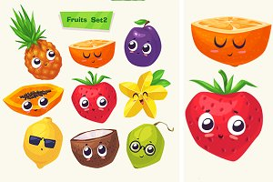 Funny cute fruits (Set2)