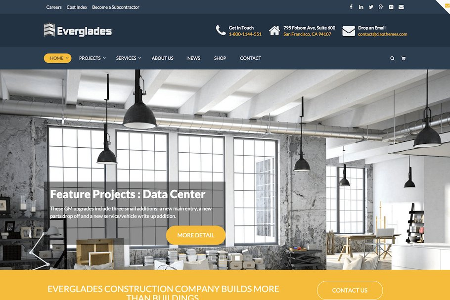Construction WordPress Theme ~ WordPress Business Themes ~ Creative