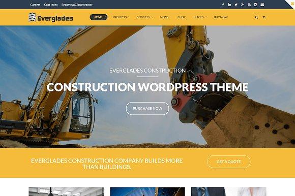 Construction Wordpress Theme Wordpress Business Themes Creative