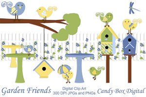 Garden Friends Clip Art