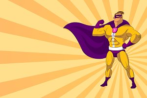 Super hero. Vector illustration on a