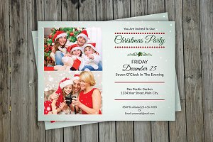 Christmas Invitation Photo Card-V148