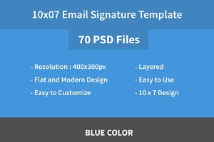 70 PSD Signature Templates