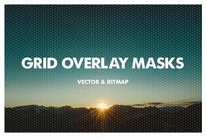 Grid Overlay Masks - Vector & Bitmap