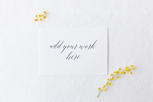 Styled stock - Greeting card mock up