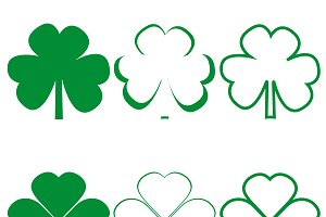 Clover leaf icons different