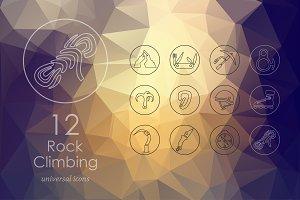 12 rock climbing icons