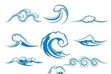 Waves of sea or ocean waves