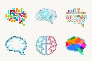 Brain, creation and idea vector icon