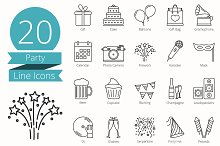 20 Party Line Icons