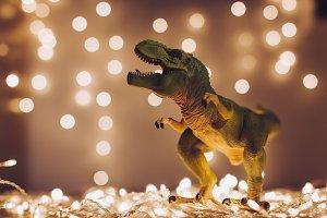 Dinosaur at Christmas