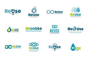12 Water logo templates