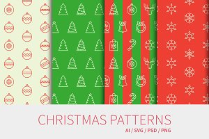 Sale: Christmas seamless patterns